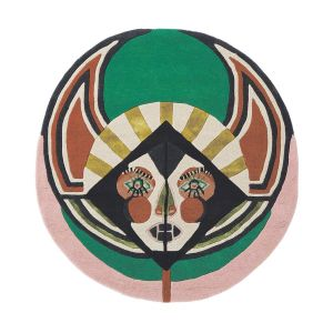 Zodiac Virgo Star Sign Circle Round Wool Rugs 161605 by Ted Baker