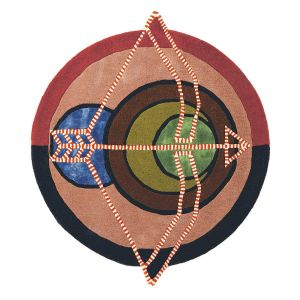 Zodiac Sagittarius Star Sign Circle Round Wool Rugs 161905 by Ted Baker