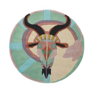 Zodiac Capricorn Star Sign Circle Round Wool Rugs 162005 by Ted Baker